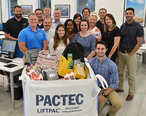 """PacTec """"Packs the Bag"""" with School Supplies"""