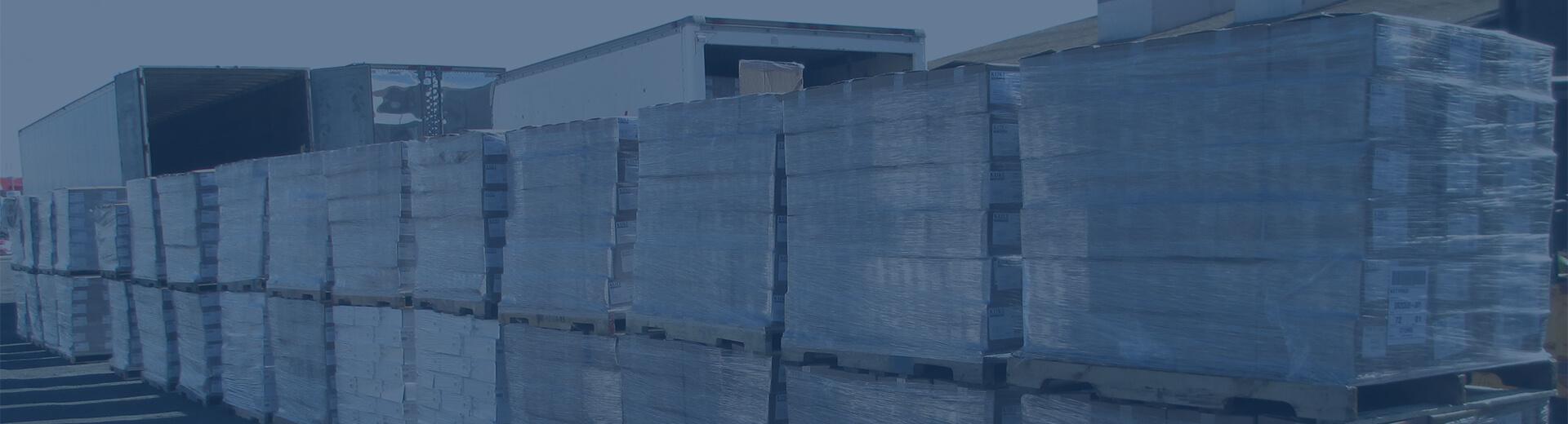 Hazardous debris bags ready for shipment